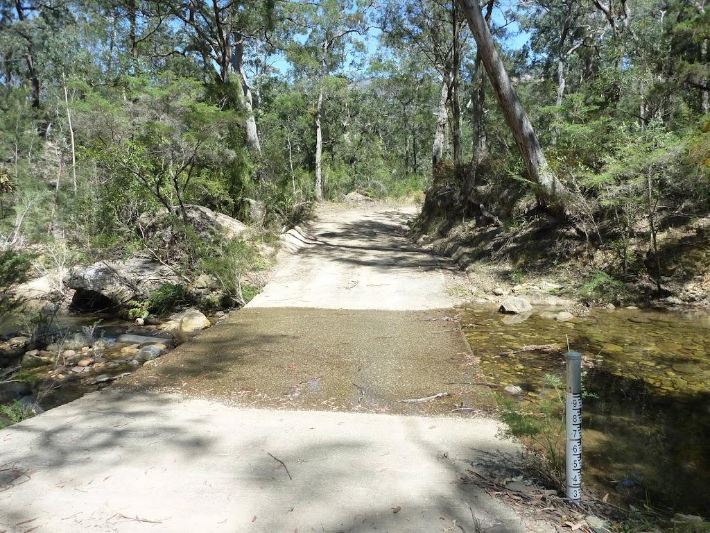 Trail crossing Jamison Creek