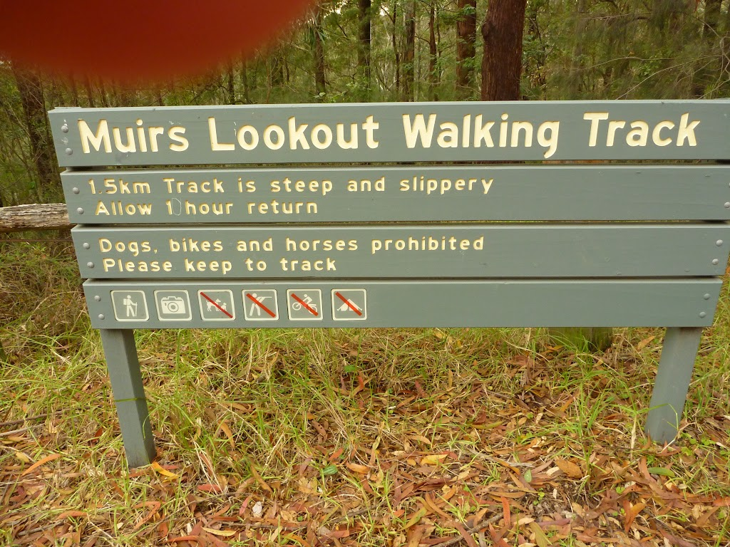Sign at Muirs Lookout near Cooranbong