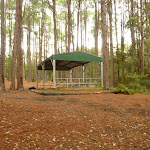 Metal shelter at the Pines Picnic Area in the Watagans (320759)