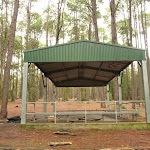 Metal shelter at the Pines picnic area in the Watagans (320765)