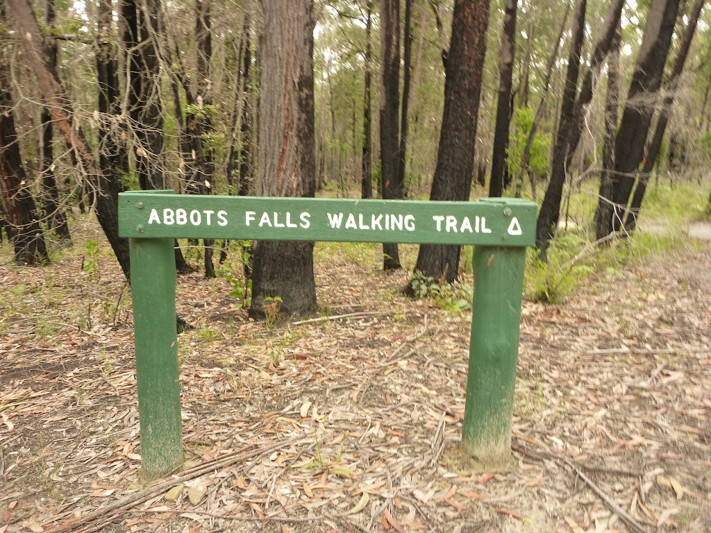 Sign to Abbotts Falls in the Watagans