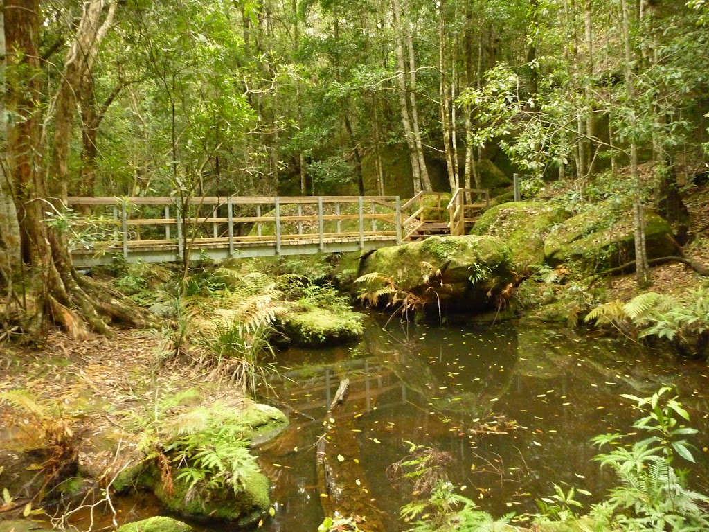 Timber bridge over the Boarding House Creek near the Watagan Forest Rd in the Watagans
