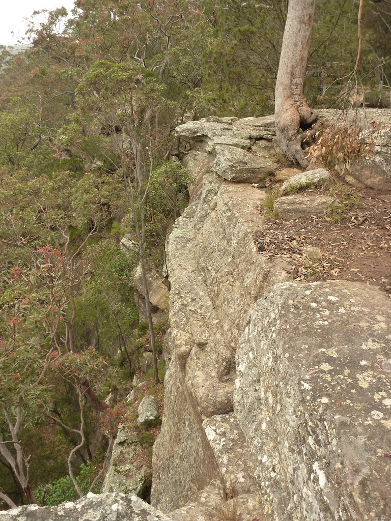 Rock cliffs at Gap Creek Viewpoint off Monkey Face road in the Watagans