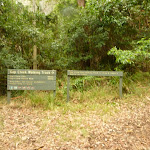 Track head at Gap Creek picnic area in the Watagans
