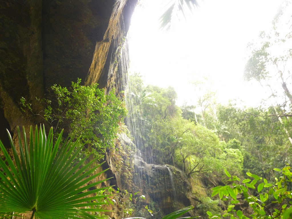 Gap Creek Falls from underneath the arch in the Watagans