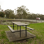 Picnic table and pond by the Mt Sugarloaf car park