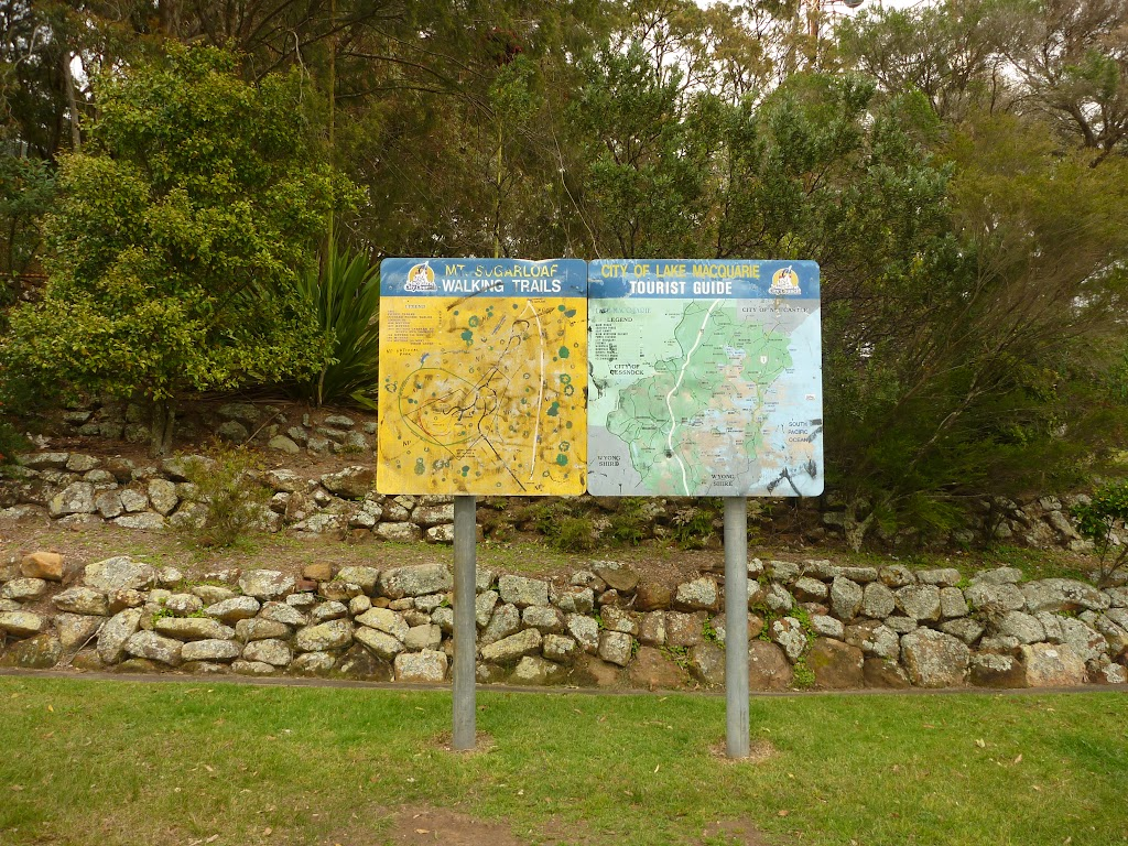 Information sign and map of Mt Sugarloaf, near Newcastle