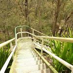 Steep metal stairs near the Mt Sugarloaf summit (324179)