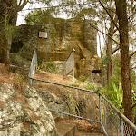 Metal fenced track over rocks near the Mt Sugarloaf summit (324182)