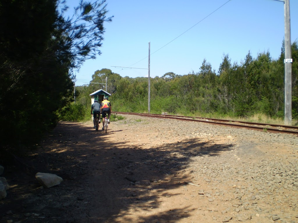 The servicetrail beside the tramway line