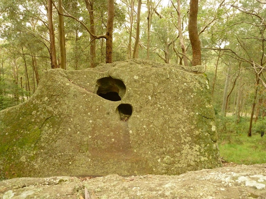 Hole in rock on the green track near Mt Sugarloaf
