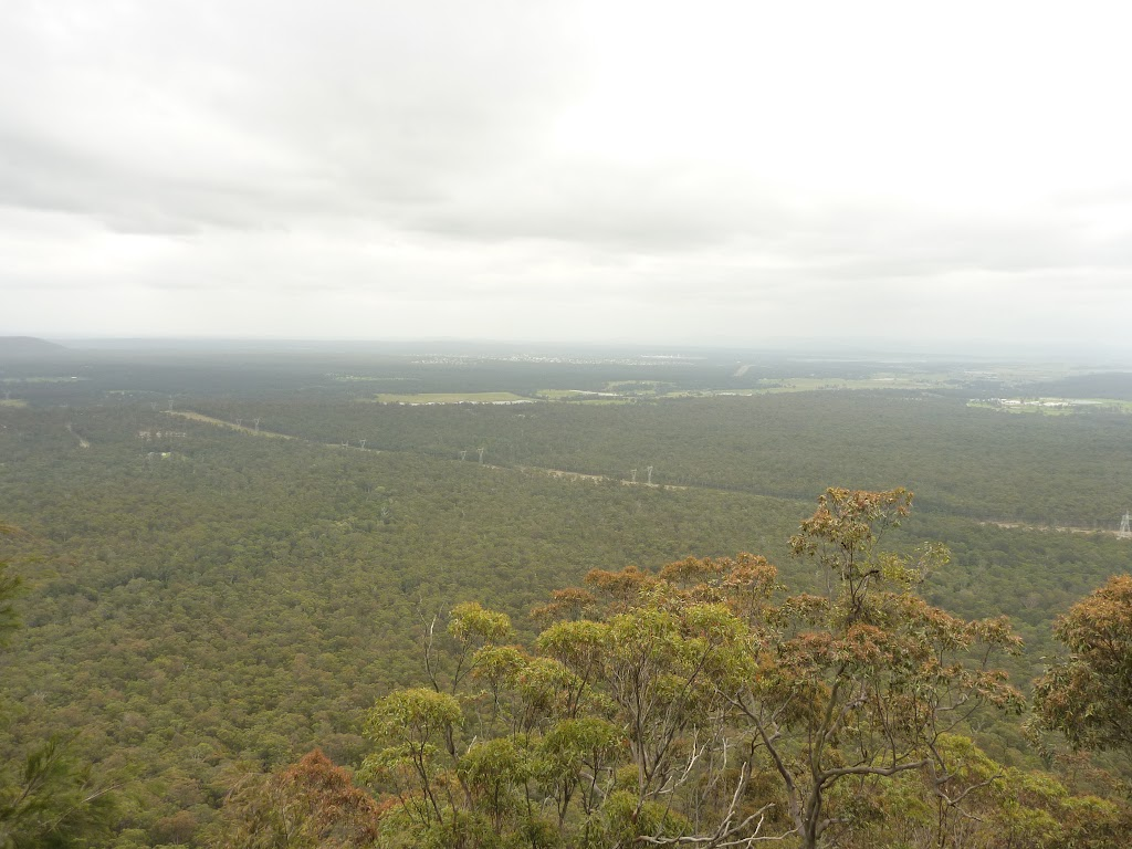 View from the western viewpoint near Mt Sugarloaf