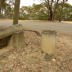 Lower Mt Sugarloaf car park and  concrete post (325214)