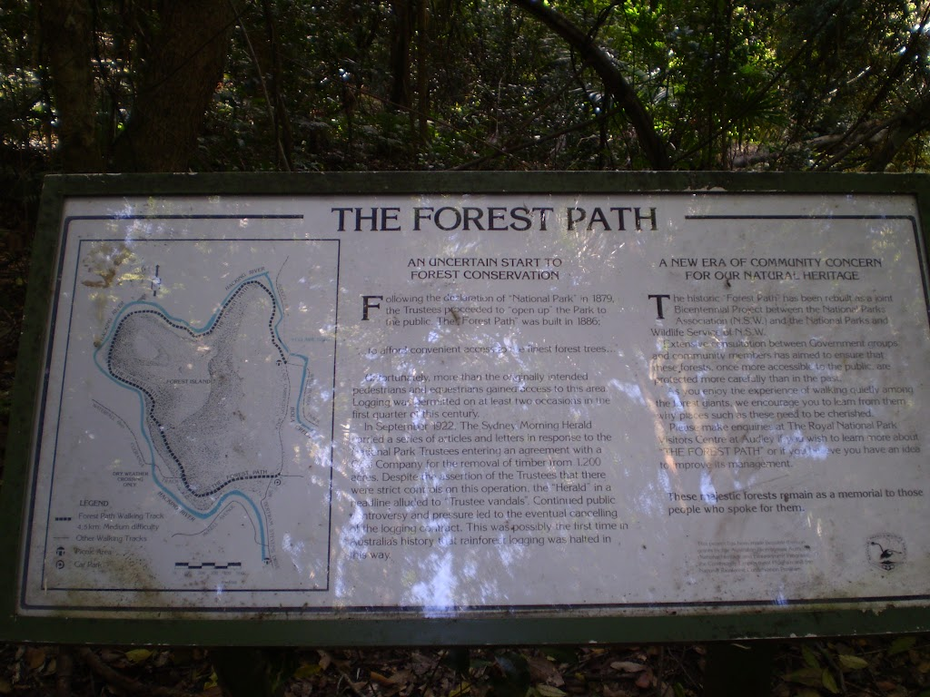The Forest Path informatiom sign (32642)