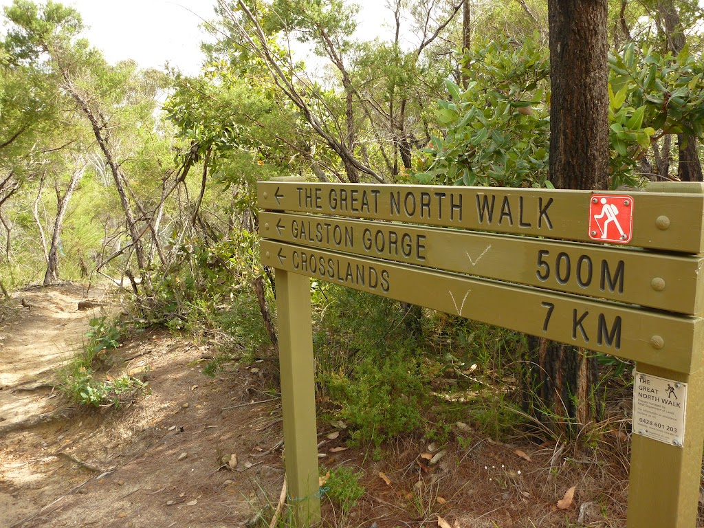 Sign above Galson Gorge Climb (327143)