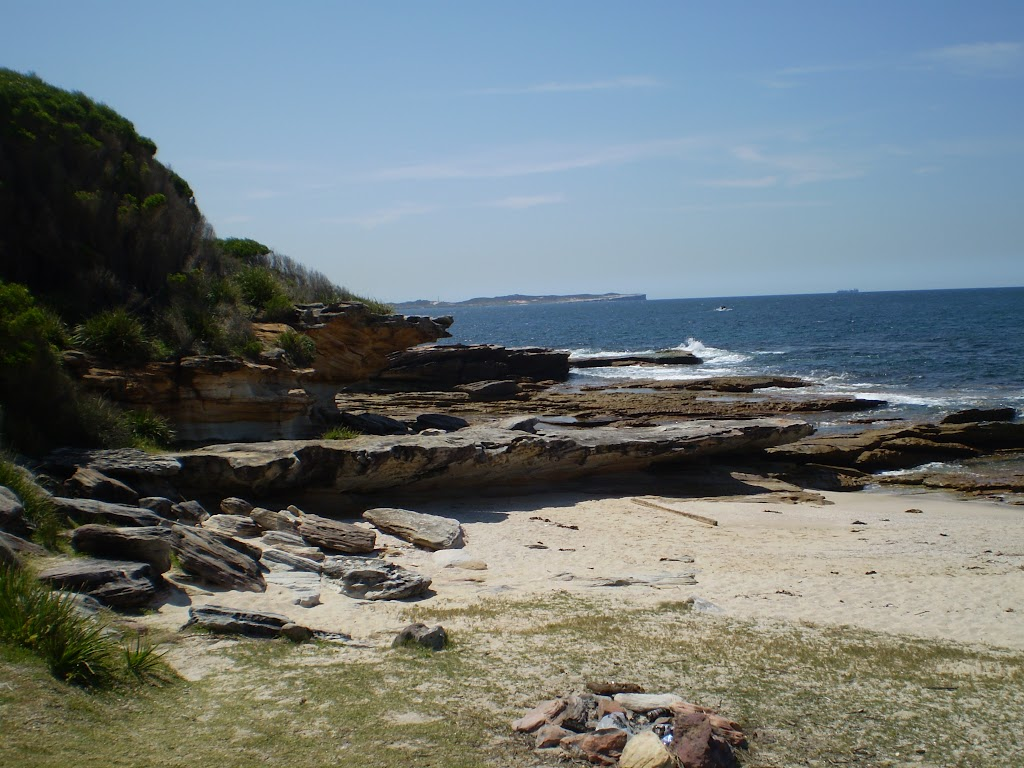 Looking back along the rockshelves at Shelley Beach