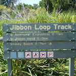 Sign at intersection at the northern end of Jibbon Beach