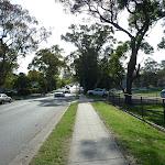 Walking alongside Berowra Waters Road