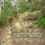 Bottom of the Hornsby stone steps