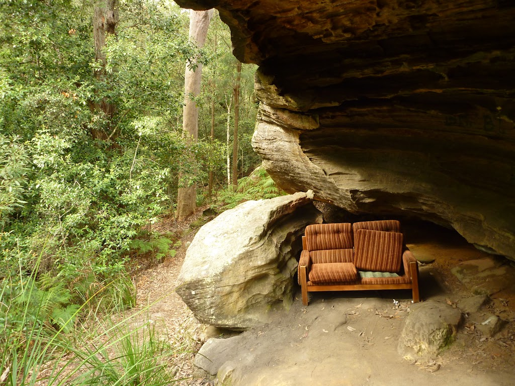 Couch in overhang on the western side of the Spa (333110)