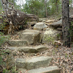Rock steps north of Elouera lookout