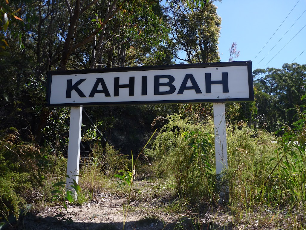Old Kahibah Train station sign (338284)