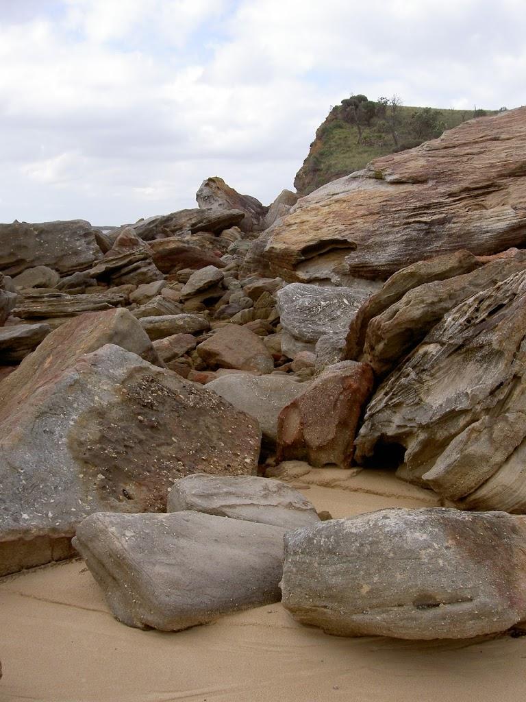Going through a boulder field