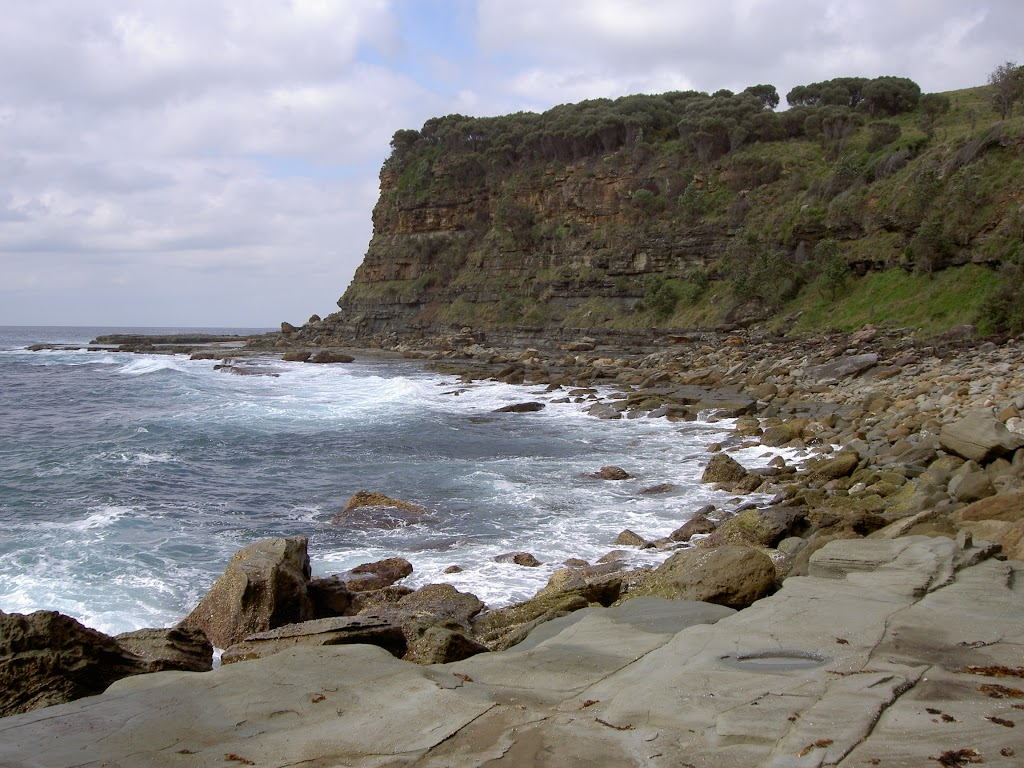 A view along the coast from Figure of 8 Pools Track