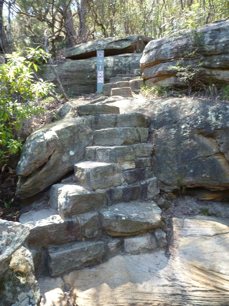 Stone steps on the east side of Buffalo Creek