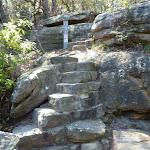 Stone steps on the east side of Buffalo Creek