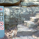 Stone steps on east side of Buffalo Creek