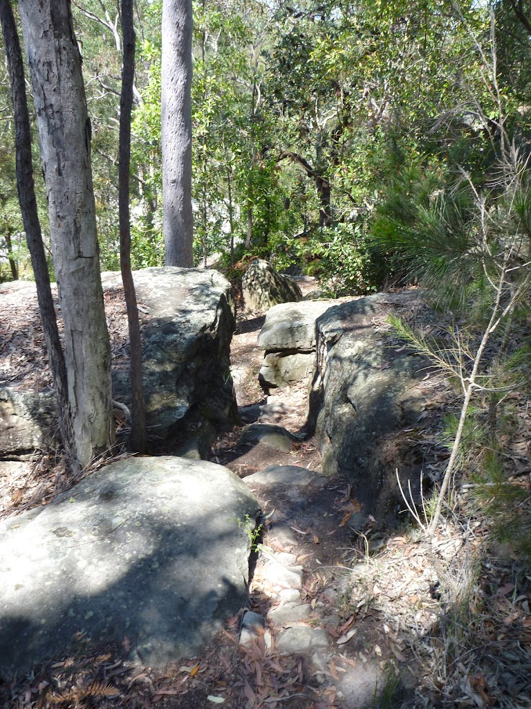 Track leading fairly steeply through the rocks