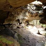 A large sandstone overhang providing some shelter (347686)