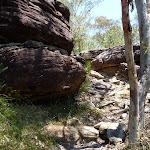 Rock track west of Deep Bay creek
