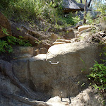 Metal peg to help climb up rock