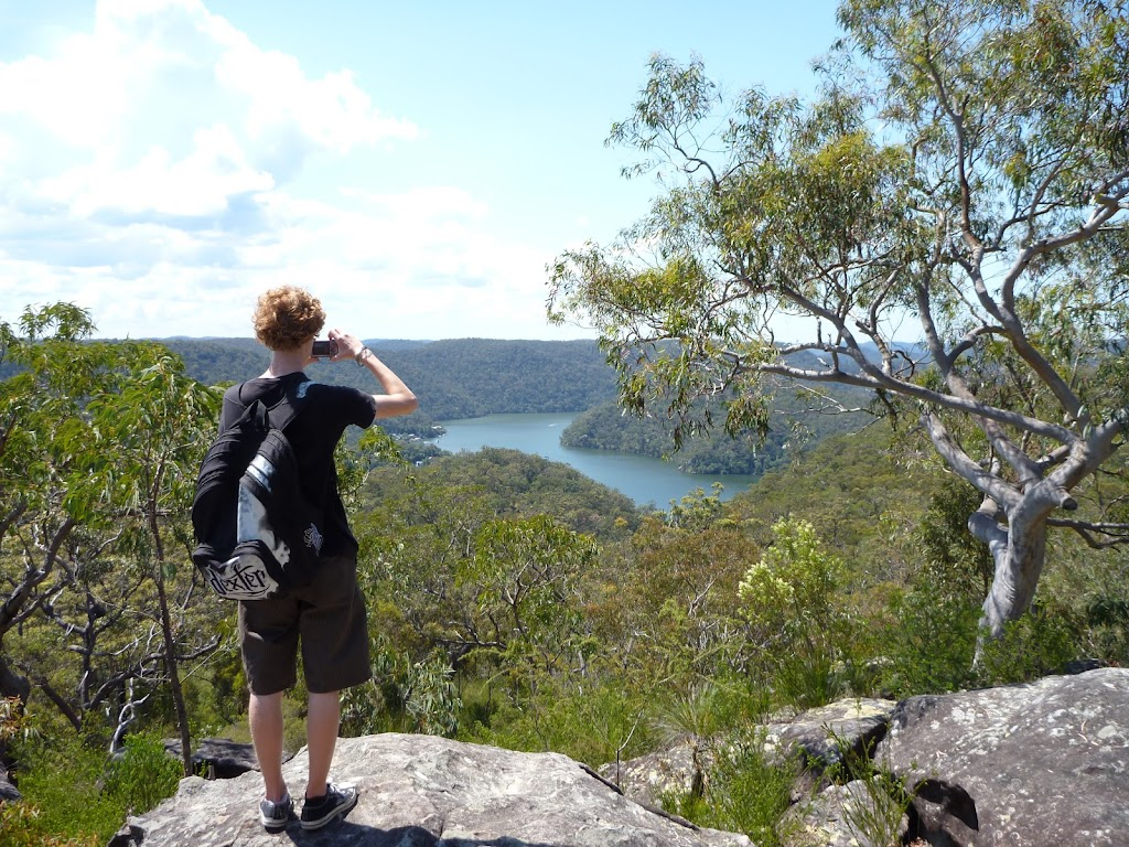 Enjoying the view towards Berowra Waters from west of the Coreen Close western trail