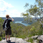 Enjoying the view towards Berowra Waters from west of the Coreen Close western trail (355100)