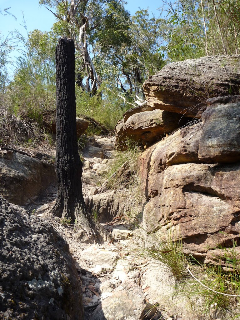 Large rocks dominate the landscape around Joe Crafts Creek