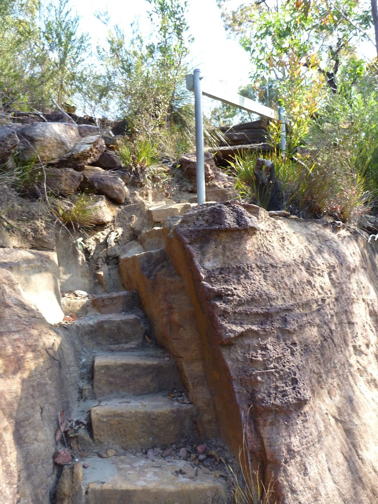 Rock steps near the valley view