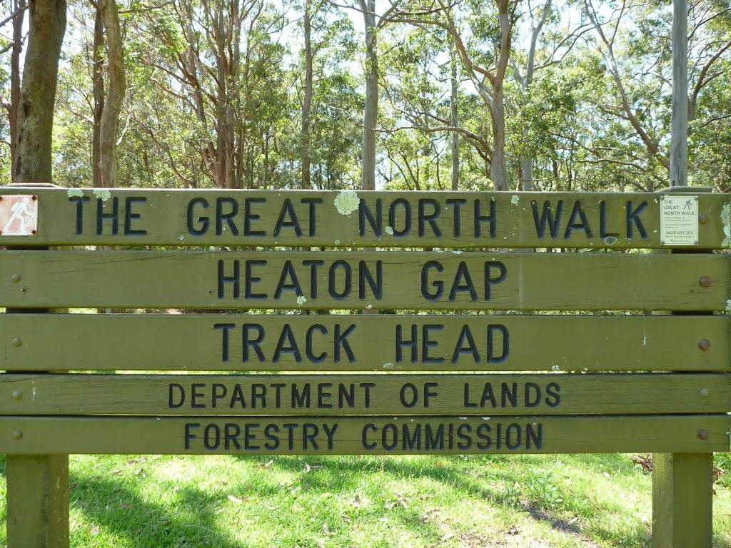 Heaton Gap Track Head sign