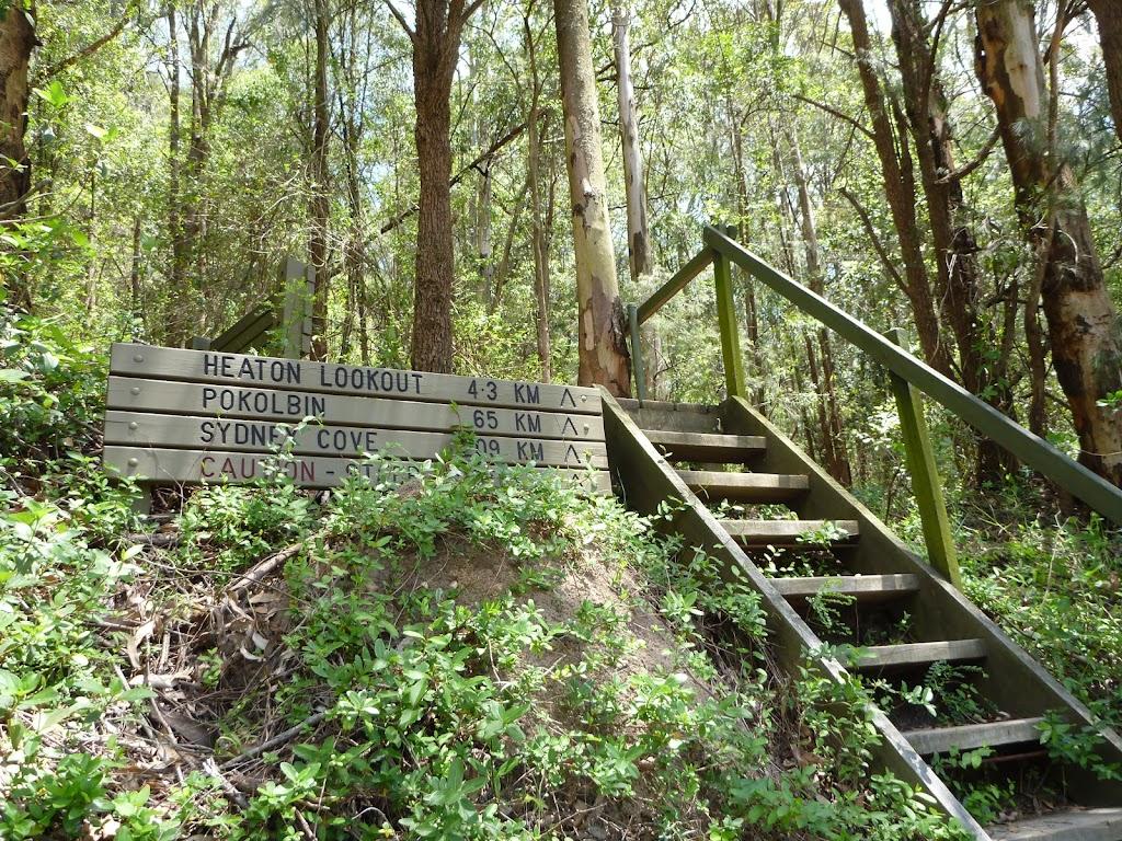 Steps and sign at Heaton Gap