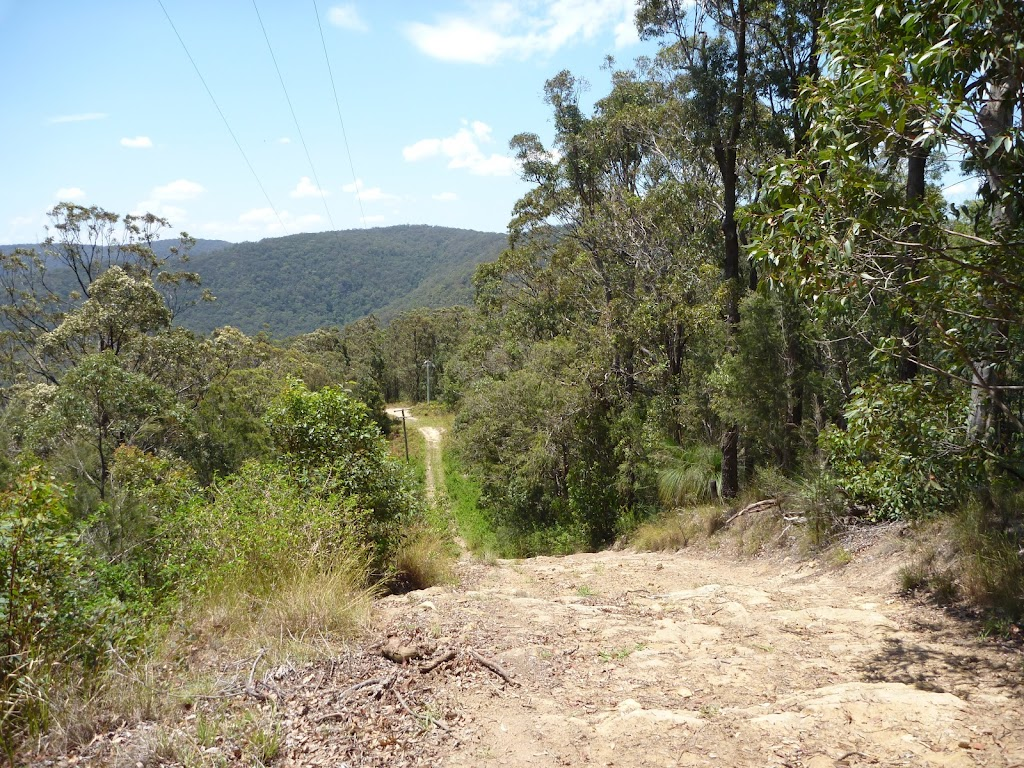 Steep section of trail between Heaton Gap Lookout and Heaton Gap