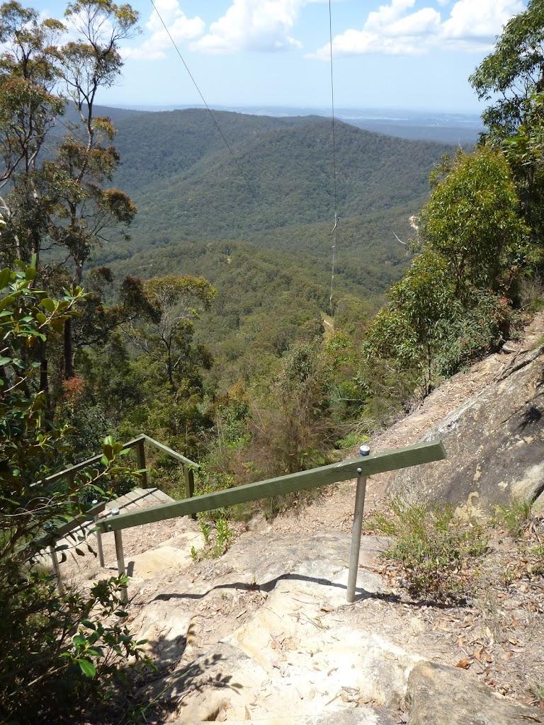 Steps just below Heaton Gap Lookout
