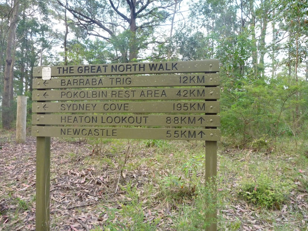 Great North Walk sign on Barkers Road, Forestry Head Quarters