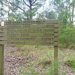 Great North Walk sign on Barkers Road Forestry Head Quarters (360899)