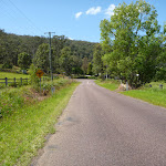 Walking along Brush Creek Rd