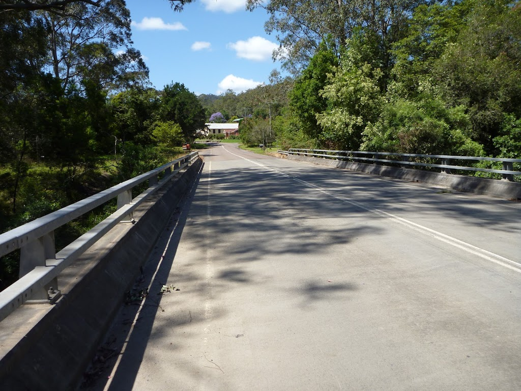 Crossing Stephensons Bridge over the Wyong River