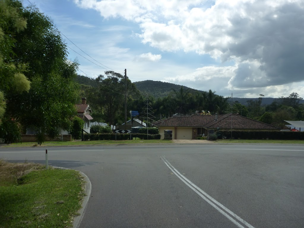 looking down Bumble Hill Road to Yarramalong Rd