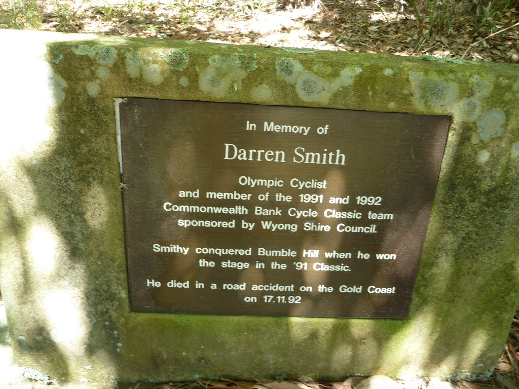 In Memory of Darren Smith (Olympic cyclist) on Greta Road