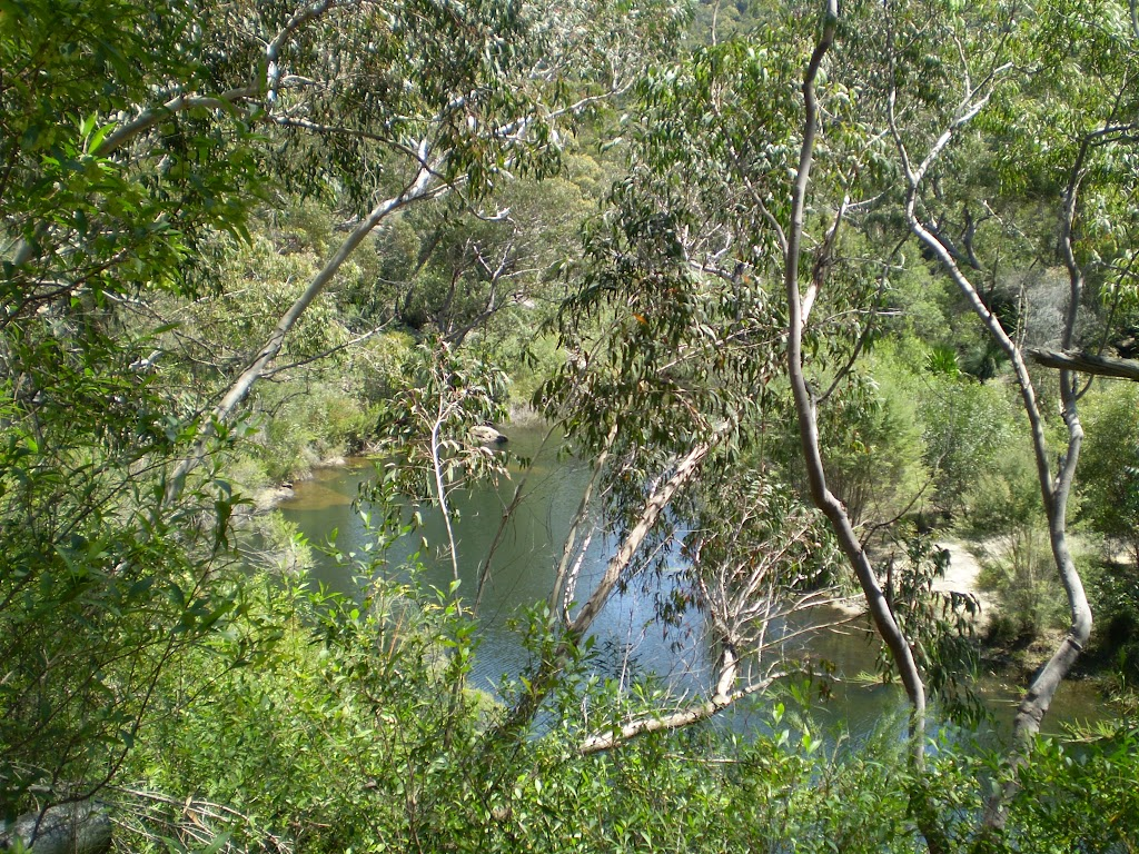 views from the pipeline track down to Heathcote Creek